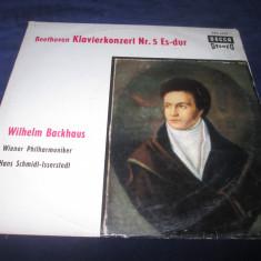 Beethoven.Wilhelm Backhaus - Klavierkonzert nr.5 Es-Dur _ vinyl, LP _ Decca - Muzica Clasica decca classics, VINIL
