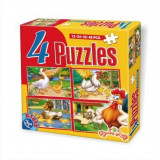 Puzzle  4 Animale Maxi Animale, Carton, 2D (plan)