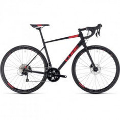BICICLETA CUBE ATTAIN SL DISC Black Red 2018 - Bicicleta Cross