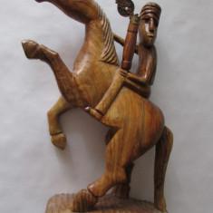 CALARET MONGOL-sculptura in lemn, Asia