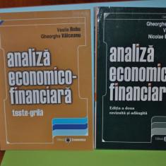 Analiza economico-financiara - Vasile Robu , Gheorghe Valceanu