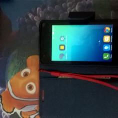 Smartphone Lenovo A1000m - Telefon mobil Lenovo, Negru, 4GB, Neblocat, Quad core, 1 GB