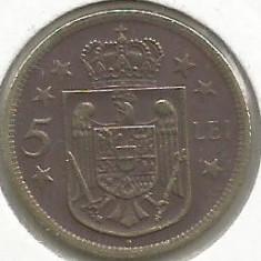ROMANIA MIHAI I REGENTA 5 LEI 1930 [02] H - HEATON, liv in cartonas - Moneda Romania, Alama