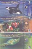 Bancnota Atlantic Ocean 1, 2 si 3 Dolari 2016 - PNew UNC ( set x3 bancnote )