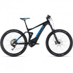 BICICLETA CUBE STEREO HYBRID 140 SL 500 27.5 Black Blue 2018 - Mountain Bike