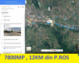 7800 mp intravilan , 12 km din P.Ros , numai 39000 euro, Teren intravilan