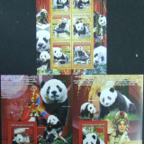 R.GUINEEA - URSUL PANDA, 2008, 1M/SH+2S/SH, NEOBLIT. - RG 93, Fauna