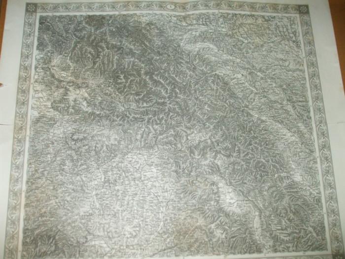 Bucovina Moldova Transilvania 1873 Viena Klafter Harta Alb Negru