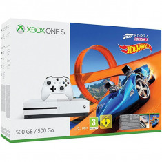 Consola Microsoft Xbox One S 500 Gb Alb + Forza Horizon 3 + Expansiune Hot Wheels