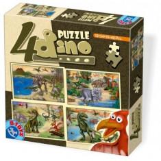 Puzzle 4 Animale Maxi Animale, Dino, Alte materiale, 2D (plan), Unisex