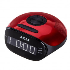 Radio cu ceas Akai ACR-267 FM/AM Red - Aparat radio