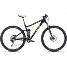 BICICLETA CUBE STEREO 120 HPC SLT Carbon Flashgreen 2018 - Mountain Bike