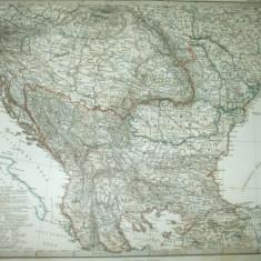 România Valahia Moldova Basarabia Rusia Turcia 1867  Gotha J. Perthes 042