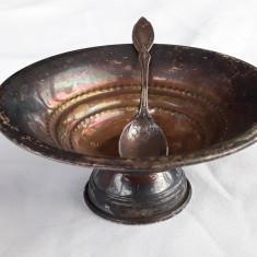 SOSIERA sau ZAHARNITA argint + LINGURITA argint set VECHI superb RAR de COLECTIE