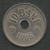 ROMANIA  10 BANI 1906 ,  litera J - Monetaria Hamburg  [4]  liv in cartonas, Cupru-Nichel