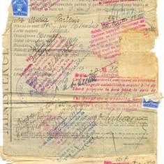 Z72 DOCUMENT VECHI-BILET DE LIBERA PETRECERE - MARIA PARTENIS -1931-1945 SULINA