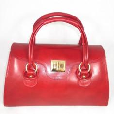 Geanta dama rosie mare piele naturala+CADOU, Culoare: Din imagine