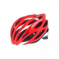 Casca ciclism Force Bat rosu/alb-M - Accesoriu Bicicleta