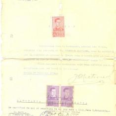 Z71 DOCUMENT VECHI-JEAN G. MATSOUKIS -CERTIFICAT MECANIC II, GHEORGHE PARTENIE - Hartie cu Antet