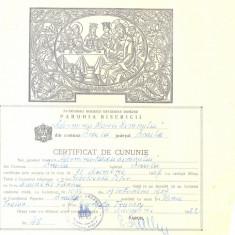 Z104 DOCUMENT VECHI -CERTIFICAT DE CUNUNIE - SOBOLEVSKI PETER, DICENSKI FANICA - Hartie cu Antet