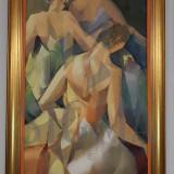 TABLOU, GEORGETA GRABOVSCHI, BALERINE, U/P, 120X 60 CM - Pictor roman
