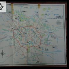 Bucuresti - reteaua de transport in comun harta anii '60 - '70