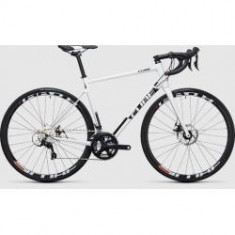 BICICLETA CUBE ATTAIN PRO DISC white black 2017 - Bicicleta Cross
