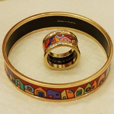 Inel diamant si bratara, Carataj aur: 18k, Culoare: Galben