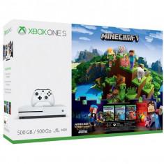 Consola Microsoft Xbox One S 500 Gb Alb + Minecraft Complete - Consola Xbox