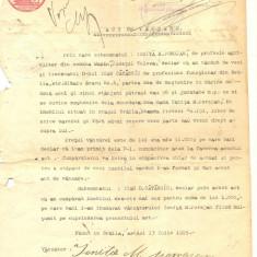 Z85 DOCUMENT VECHI-ACT DE VANZARE-CUMPARARE ANUL1915-IONITA POROJAN-ION CATANOIU - Hartie cu Antet