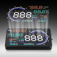 Display kilometraj auto cu proiectie parbriz 5.5 inch - Conectica auto
