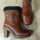 Cizme 3/4 dama TIMBERLAND Boot Company originale handmade piele+blana 37/38/39