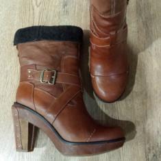 Cizme 3/4 dama TIMBERLAND Boot Company originale handmade piele+blana 37/38/39 - Cizma dama Timberland, Culoare: Coniac, Piele naturala