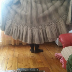 Vand haina de nurca gri perlat culoare foarte rara - haina de blana