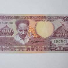 Surinam 100 Gulden 1986 UNC - bancnota america