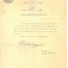 Z99 DOCUMENT VECHI -CERTIFICAT-LICEUL,, PRINCIPELE CAROL