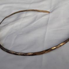 Rar COLIER argint aurit la Baza Gatului REGLABIL splendid VECHI superb VINTAGE
