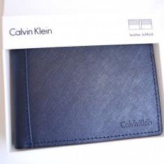 Portofel barbati Calvin Klein CK, pliabil in doua, Nou, Import USA., Albastru