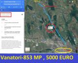 COPOU VANATORI SAT NOU , 853 MP , 5000 EURO ,12,6 km de la Palas, Teren extravilan