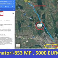 COPOU VANATORI SAT NOU, 853 MP, 5000 EURO, 12, 6 km de la Palas - Teren de vanzare, Teren extravilan