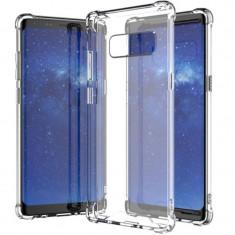 Husa silicon strong pentru Samsung Galaxy Note 8, Transparent - Husa Telefon