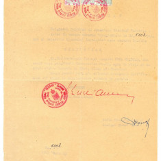 Z106 DOCUMENT VECHI-CERTIFICAT PENTRU LOCOTENENT COLONEL NITA GH. IOAN - PENSIE - Hartie cu Antet