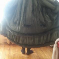 Vand haina de piele cu blana naturala model unicat - haina de blana