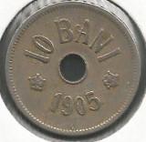 ROMANIA  10  BANI  1905  [19]  livrare in cartonas, Cupru-Nichel