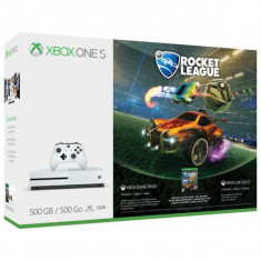 Consola Microsoft Xbox One S 500 Gb Alb + Rocket League - Consola Xbox