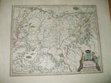 Transilvania 1658 Amsterdam Ioannes Ianssonium harta color Siebenburgen 044