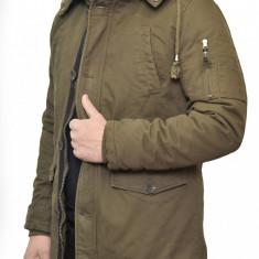 Geaca de Iarna Barbati Groasa din Doc - Geaca barbati, Marime: L, XL, Culoare: Khaki, Poliester