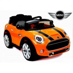 Masinuta electrica Mini Cooper orange - Masinuta electrica copii