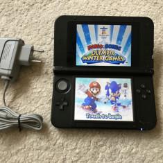 Nintendo 3DS XL+joc Mario+incarcator+SOFT 8.1.0 MODABIL in stare buna, testat, ok