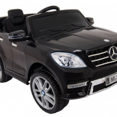 Masinuta electrica Mercedes Benz ML-350 negru, anvelope din cauciuc si portiere